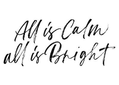 Printable Christmas Cards - All Is Calm All Is Bright