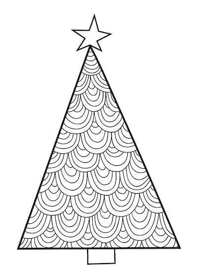 Printable Christmas Cards - Coloring Christmas Tree