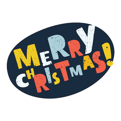 Free Printable Christmas Cards Merry Colorful Letters