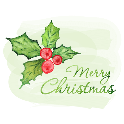 Free Printable Christmas Cards Merry Holly Watercolor