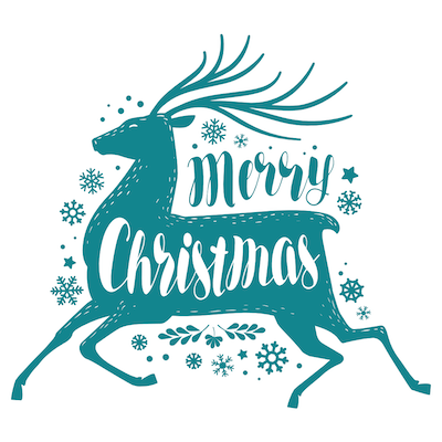 Printable Christmas Cards - Merry Stag