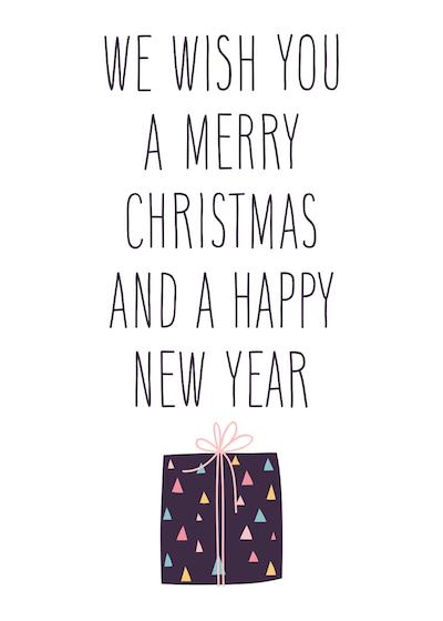 Free Printable Christmas Cards Wish You Merry Gift