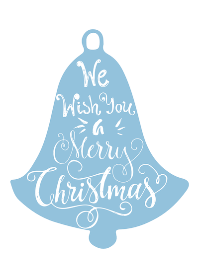 Free Printable Christmas Cards Wish You Merry Xmas Blue Bell
