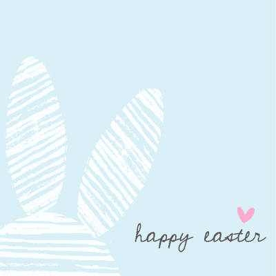 Free Printable Easter Cards 5x5 Abstract Bunny Ears Blue