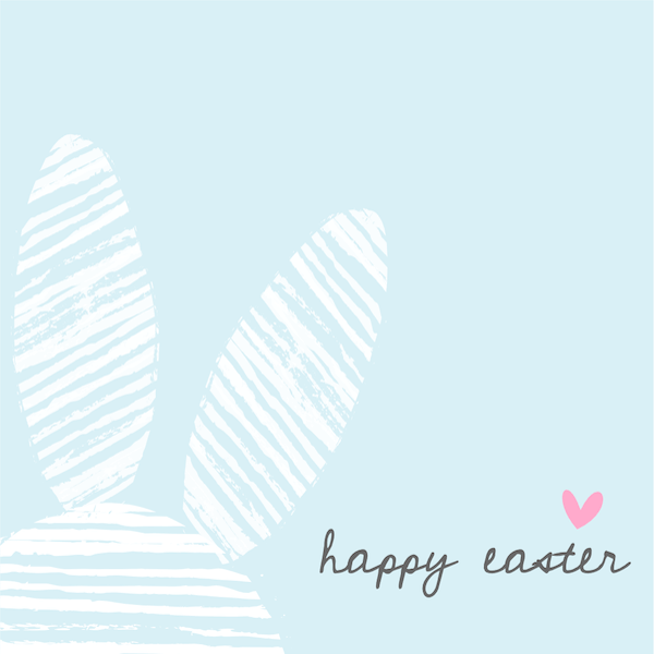 free printable easter cards - Bunny ears