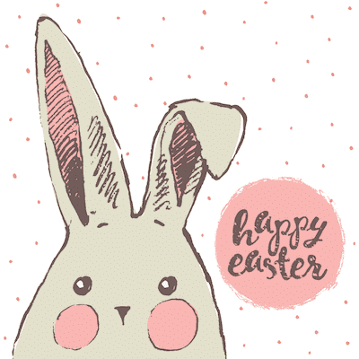 Free Printable Easter Cards 5x5 Bunny Rosy Cheeks