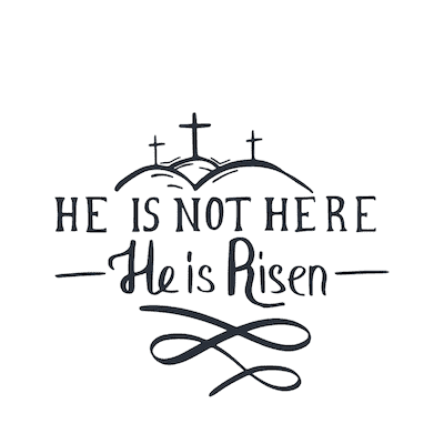 Free Printable Easter Cards 5x5 Christian He Is Not Here He Is Risen
