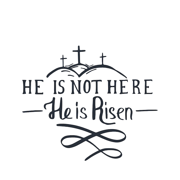 free printable easter cards - He is not here he is risen