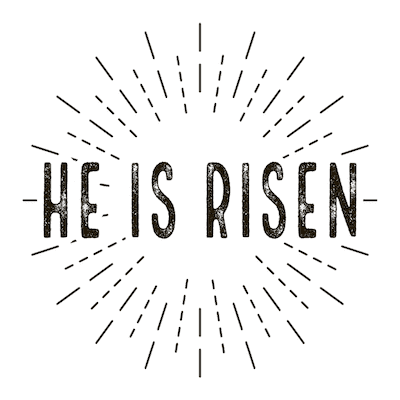 Free Printable Easter Cards 5x5 Christian He Is Risen Stamped