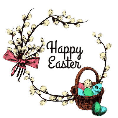 Free Printable Easter Cards 5x5 Cotton Wreath Eggs