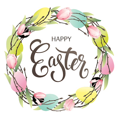 Free Printable Easter Cards 5x5 Spring Wreath Eggs