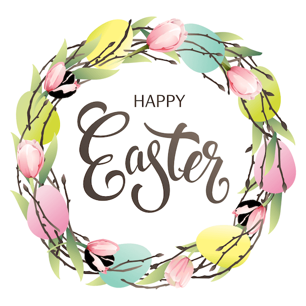 free printable easter cards - Spring wreath