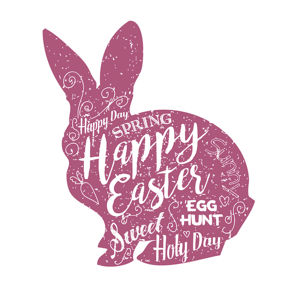 free printable easter cards - Wort-art bunny