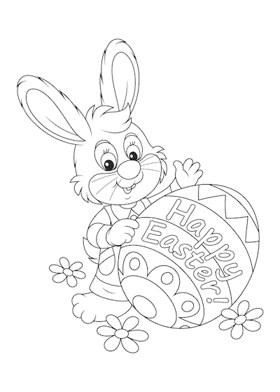 Free Printable Easter Cards 5x7 Coloring Easter Bunny Eggs