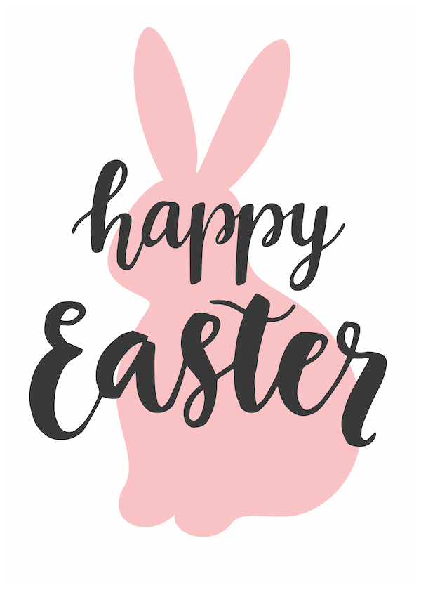 free printable easter cards - Bunny silhouette