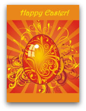 free printable easter cards swirly egg