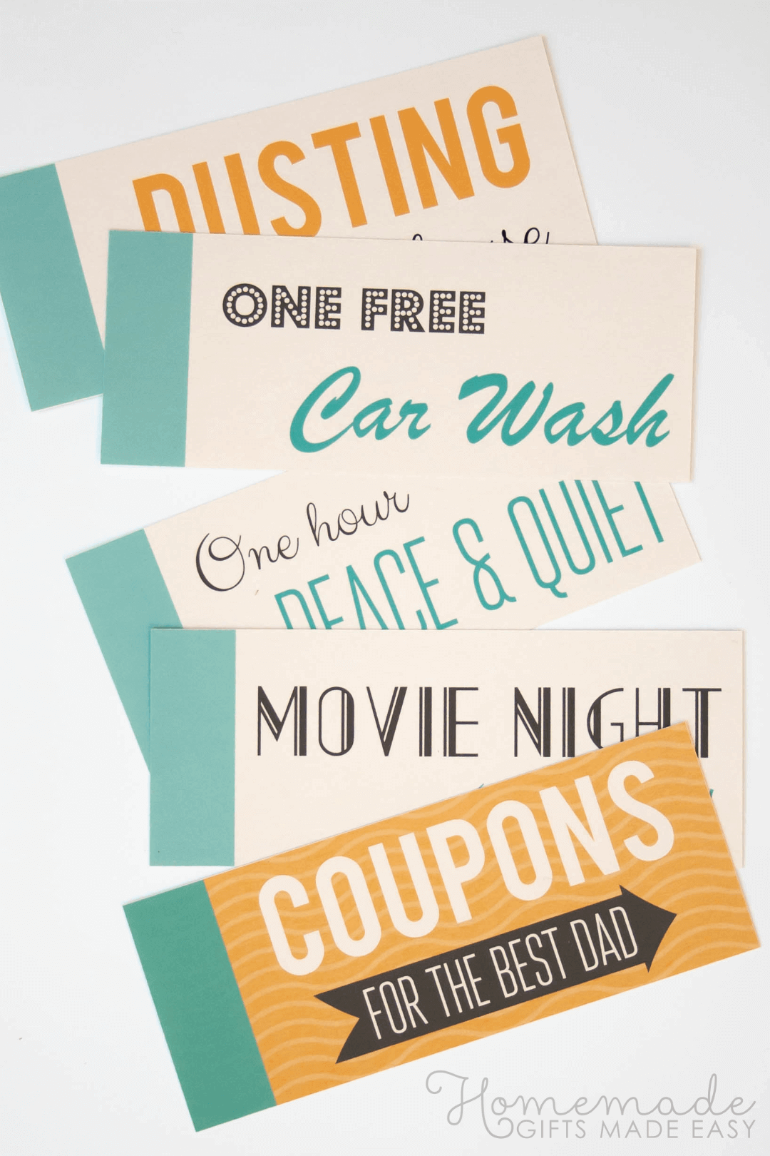 Free Printable Father's Day Coupons for your Dad