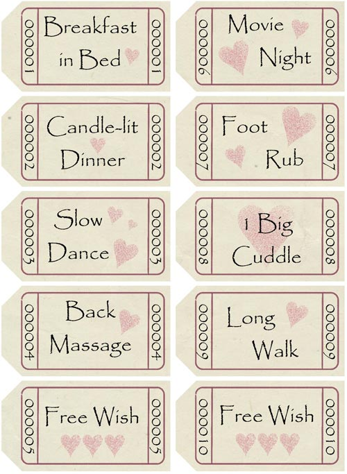 Homemade Gifts Made Easy  Free Coupon Book Template