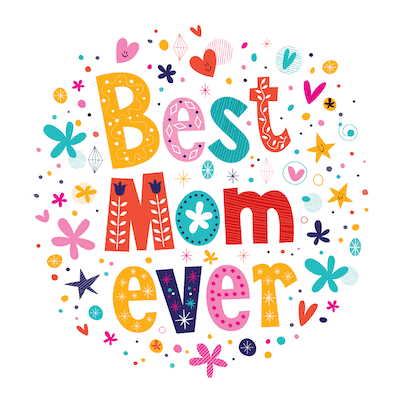Free Printable Mothers Day Cards Best Mom Ever Colorful