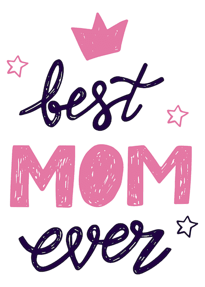 Free Printable Mothers Day Cards Best Mom Ever Pink Crown