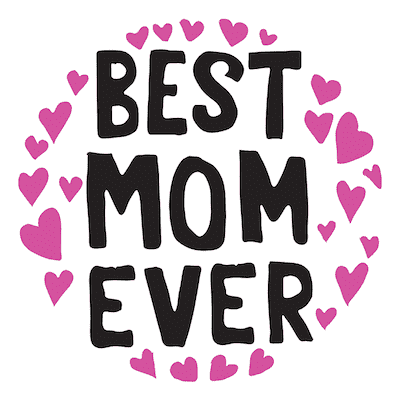 Free Printable Mothers Day Cards Best Mom Ever Pink Hearts