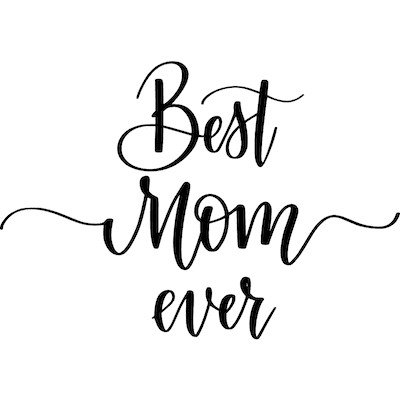Free Printable Mothers Day Cards Best Mom Ever Script