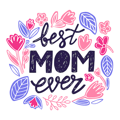 Free Printable Mothers Day Cards Best Mom Purple Pink