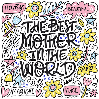 Free Printable Mothers Day Cards Best Mother Doodle