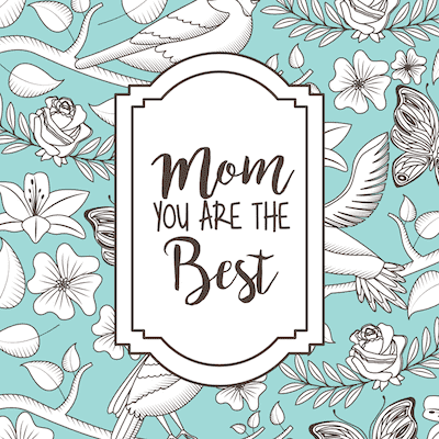 Free Printable Mothers Day Cards Blue Vintage Best Mom