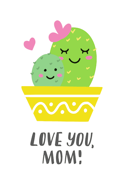 Free Printable Mothers Day Cards Cactus
