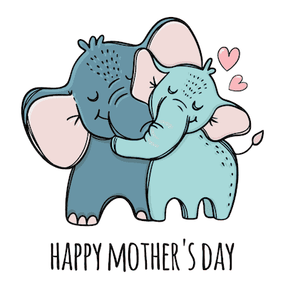 Free Printable Mothers Day Cards Cute Elephants
