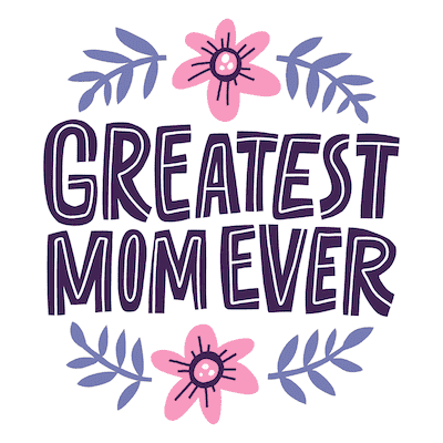 Free Printable Mothers Day Cards Greatest Mom Ever Pink Flowers