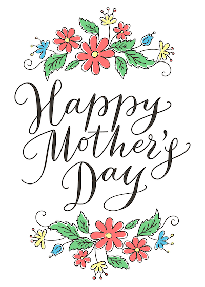 Free Printable Mothers Day Cards Happy Cute Flowers