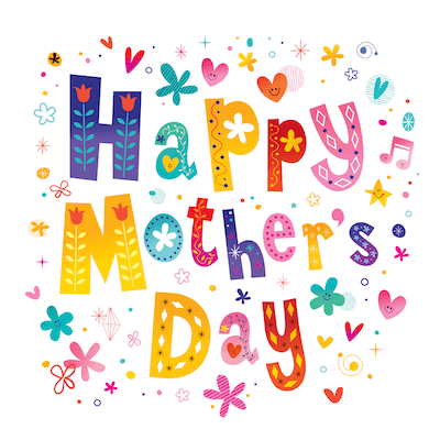 Free Printable Mothers Day Cards Happy Flowers Stars Colorful