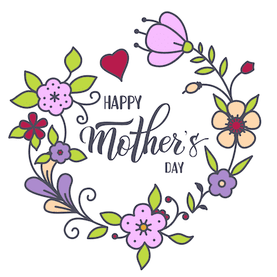 Free Printable Mothers Day Cards Happy Purple Flower Wreath