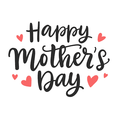 Free Printable Mothers Day Cards Happy Red Hearts