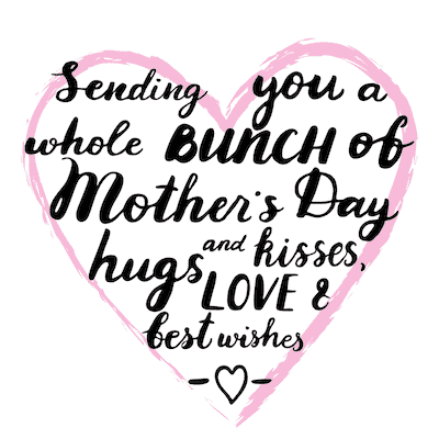 Free Printable Mothers Day Cards Heart Sending Wishes