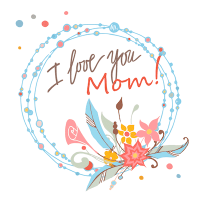 Free Printable Mothers Day Cards I Love You Mom Blue Pink Wreath