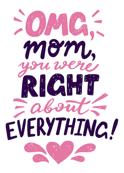 Free Printable Mothers Day Cards Mom Right About Everything