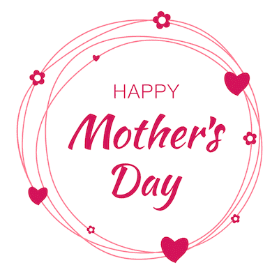 Free Printable Mothers Day Cards Pink Hearts Circle