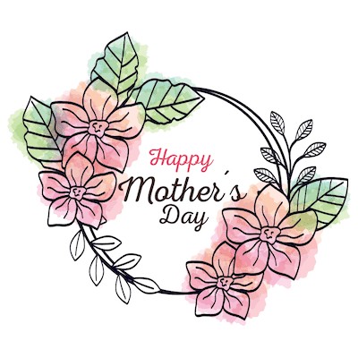 Free Printable Mothers Day Cards Watercolor Flower Happy