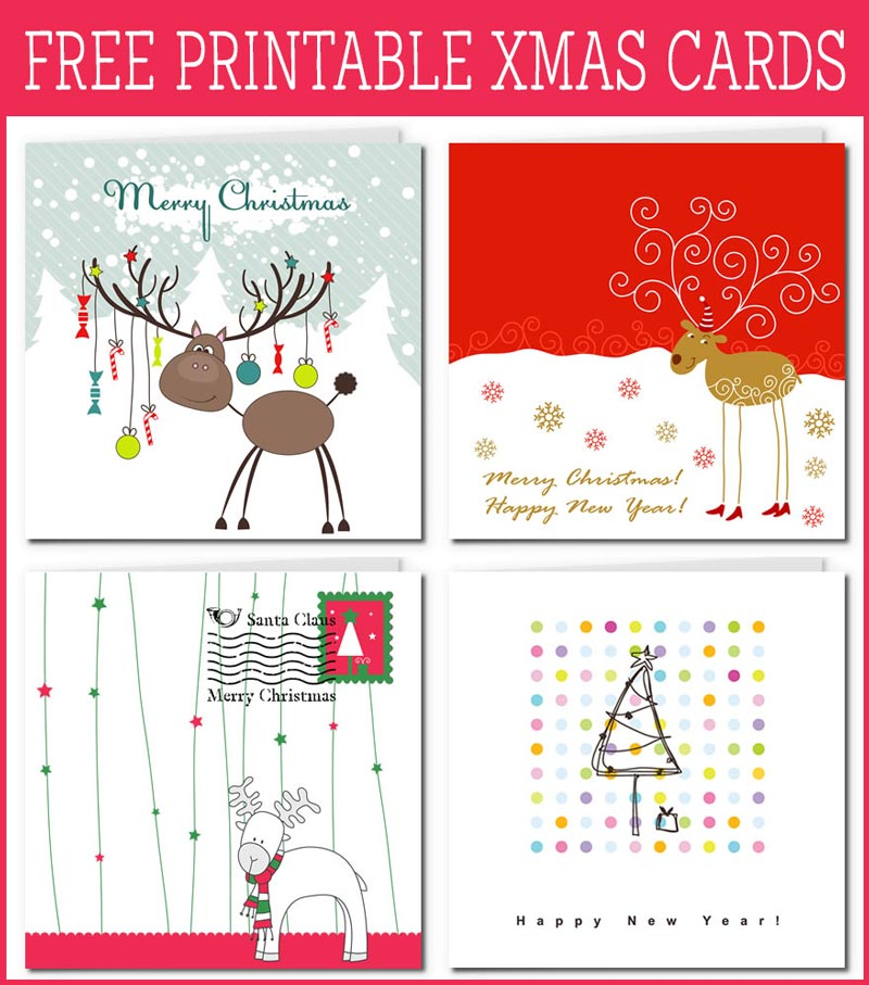 It is an image of Satisfactory Free Christmas Cards to Print