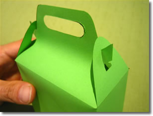 gift bag templates instructions step 4