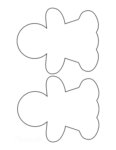 Gingerbread Man Girl Template Blank Medium 2