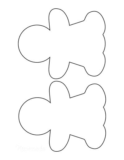 Gingerbread Man Girl Template Blank Medium 2