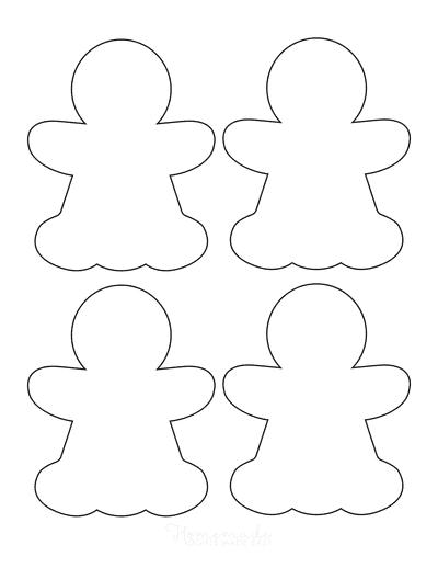 Gingerbread Man Girl Template Blank Small 4