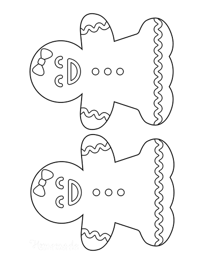 Gingerbread Man Girl Template Icing Medium 2