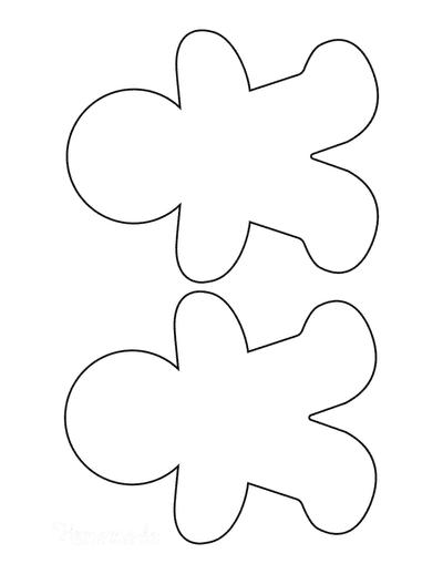 Gingerbread Man Template Blank Medium 2