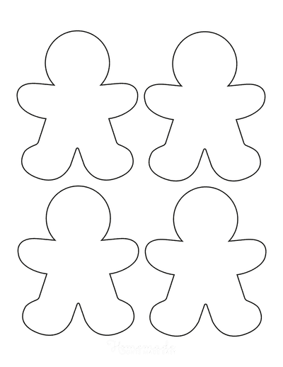 Gingerbread Man Template Blank Small 4