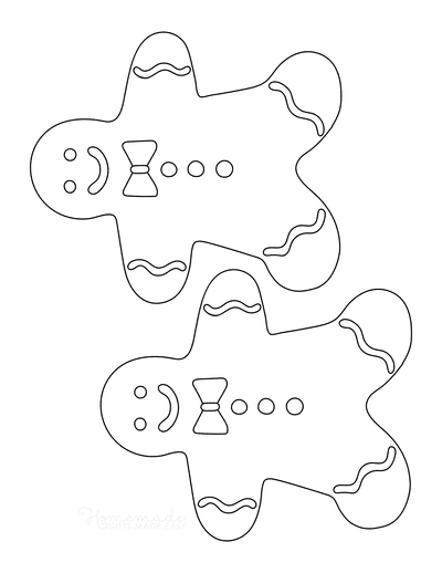 Gingerbread Man Template With Icing Medium 2